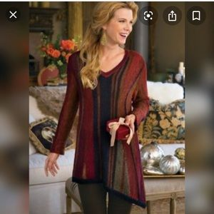 Soft surroundings Idlewild asymmetrical sweater s